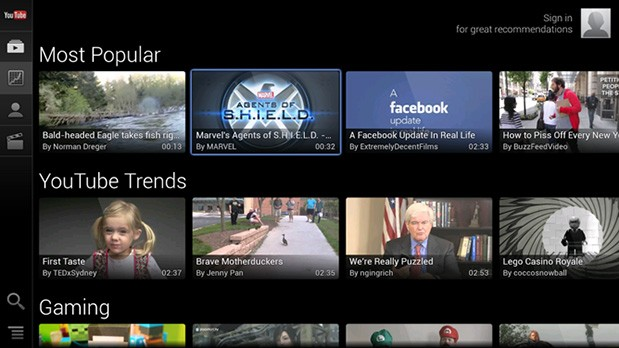 YouTube for Google TV update with streamlined UI, support for paid subscriptions