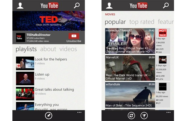 Windows Phone 8's YouTube app goes &#102;&#114;&#111;&#109; glorified bookmark &#116;&#111; full application &#105;&#110; latest update