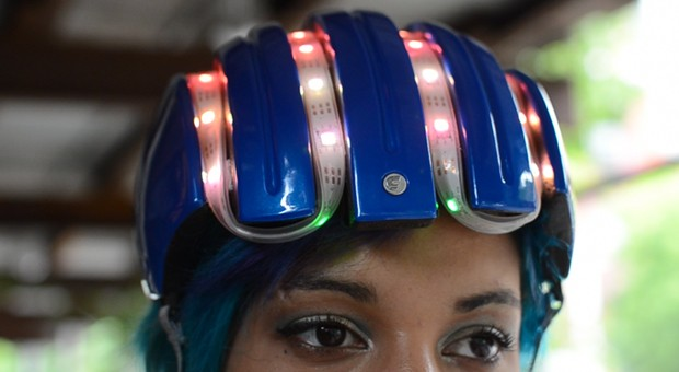 Adafruit smart helmet guides bike riders