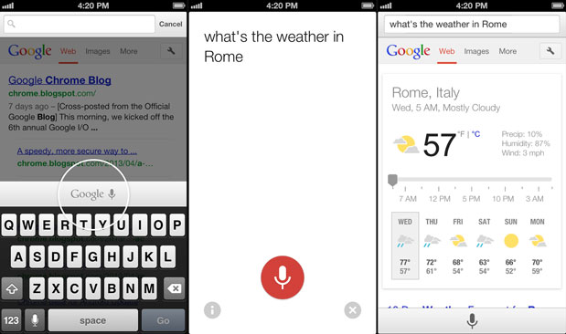 Chrome for iOS update adds voice search to the omnibox, speeds up page reloading