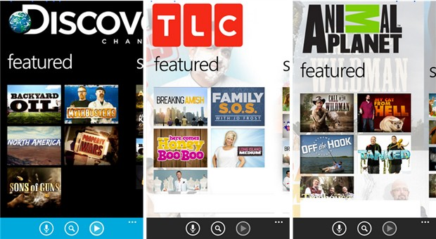 Discovery launches TV streaming apps for Windows Phone