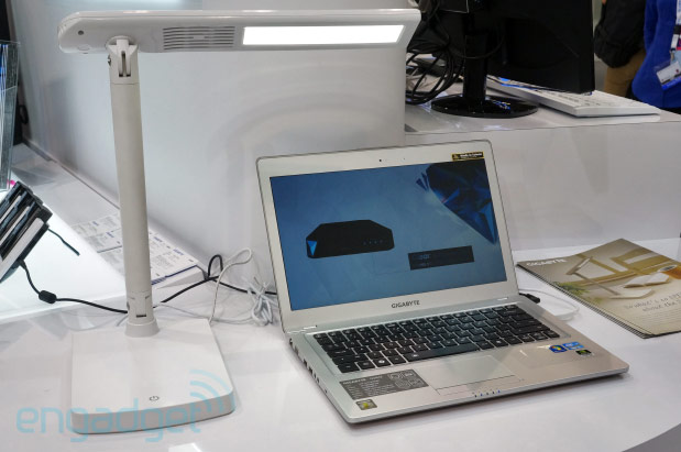 Gigabyte Smart Lamp doubles as an Ultrabook hub, is missing a few ports handson