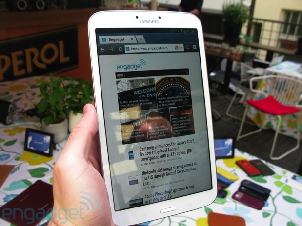 Early handson with Samsung's latest Galaxy devices the GS4 Active and GS4 Mini, plus 8 and 10inch Tab 3