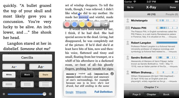 Amazon Kindle for iOS adds line spacing options and multipage highlights