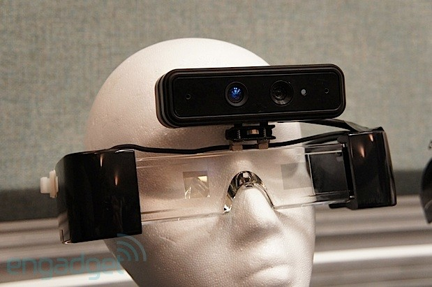 Handson with Meta1, an 3D augmented reality headset with a natural UI video