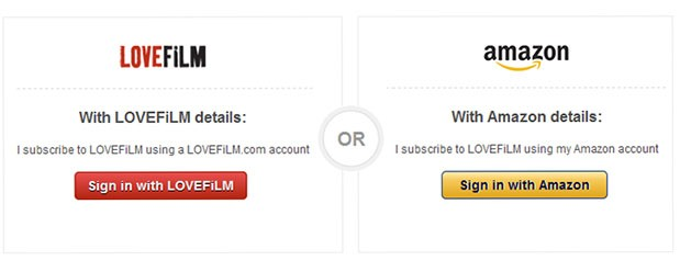 PSA You can now use your Amazon account to log into LOVEFiLM