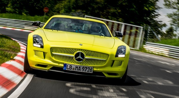 Mercedes-Benz SLS AMG Electric Drive Breaks Nurburgring EV Lap Record