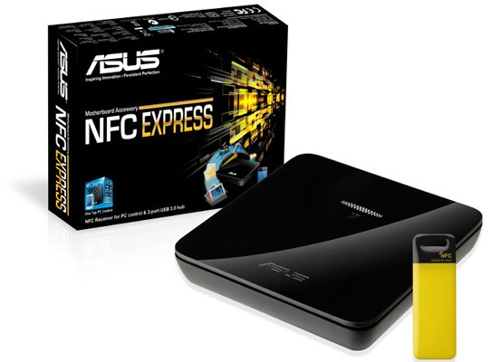 ASUS' NFC Express accessory bundled with Deluxe / Dual Haswell motherboard