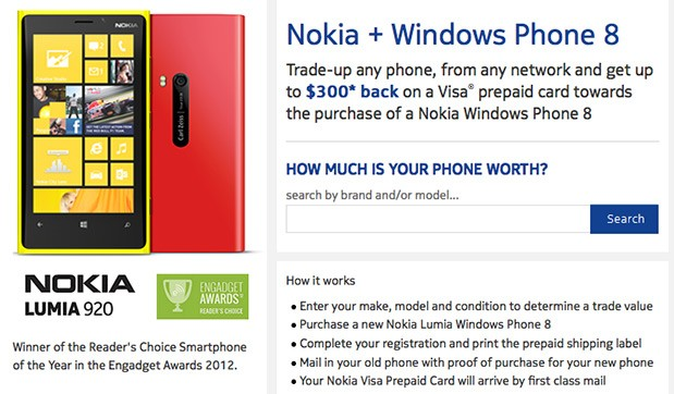 DNP Nokia tradeup in the US