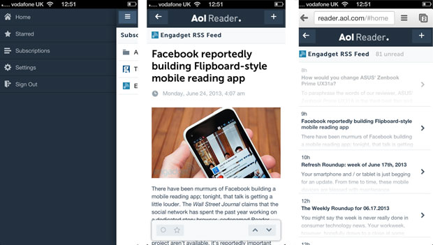 AOL Reader beta officially available for your RSSperusing needs handson