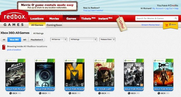 Redbox opens GamingFuture site to discuss rentals for Xbox One, PS4