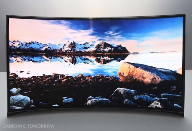 Samsung launches 55inch 'flawless' curved OLED TV in Korea