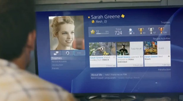 PS4 video reveals UI for sharing gameplay videos, multitasking, making friends