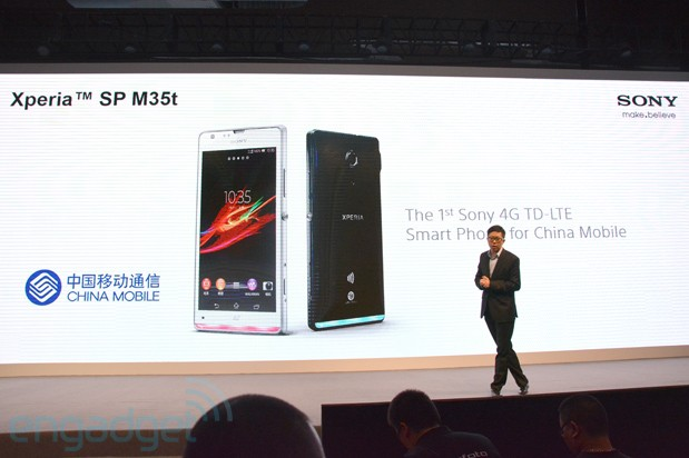 Sony Xperia SP M35t with TDLTE radio announced for China Mobile