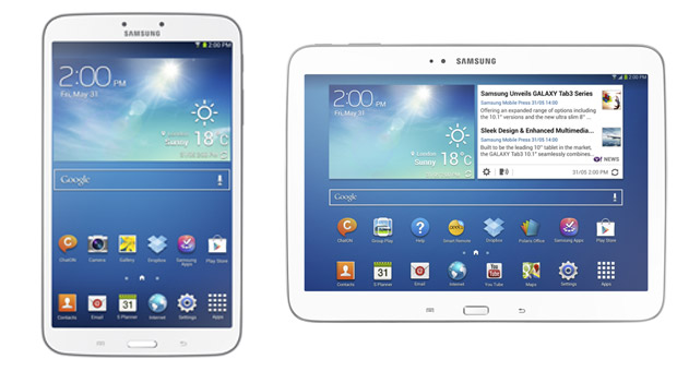 Samsung Galaxy Tab 3 8- and 10.1-inch versions to launch worldwide