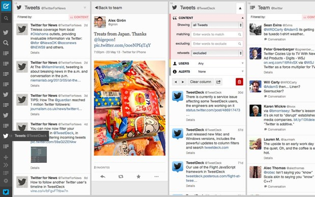 TweetDeck for Mac updated with sidebarloving design
