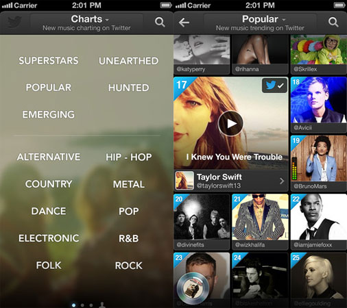Twitter #Music for iOS adds genres for more targeted filtering, thankfully omits rap-rock