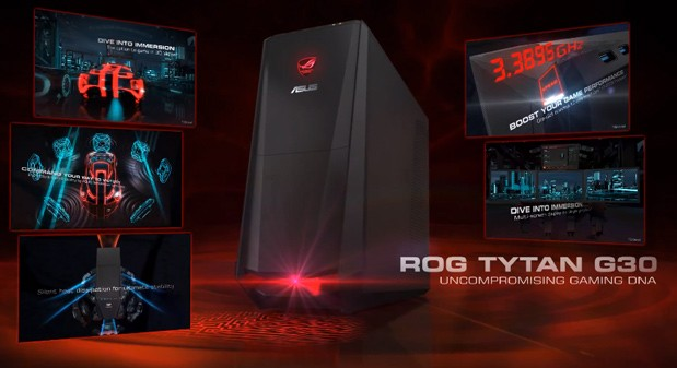 ASUS adds liquidcooled Haswell to its ROG TYTAN G30 gaming desktop video