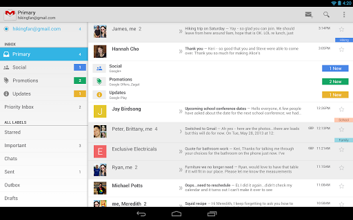 Gmail for Android update widespread rollout