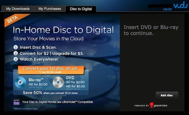 Vudu disctodigital at home leaves beta, comes to Mac