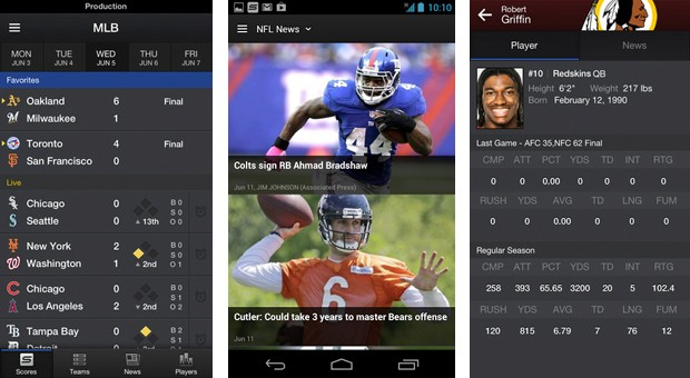 Yahoo Sports overhauled for Android and iOS with new UI, local experts