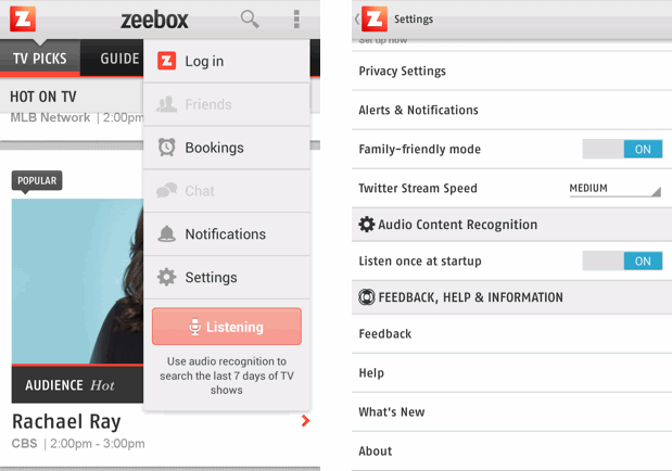Zeebox can now listen in, automatically identify what you're watching