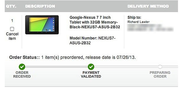 Source new Nexus 7 to arrive today at Best Buy