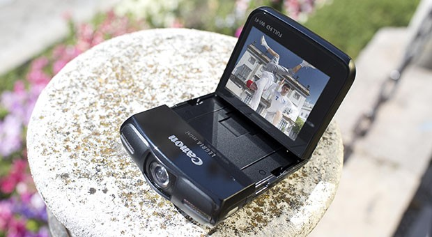 Canon's 1080p Legria mini camcorder makes it easy to film yourself