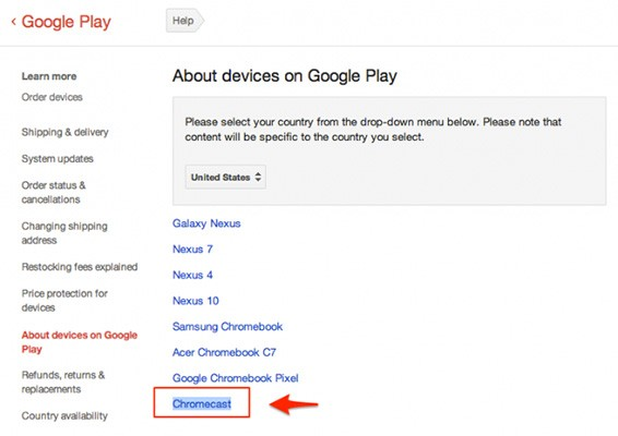 Google lists Chromecast as a device in support docs, quickly removes it (update)
