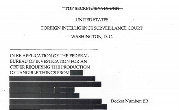 DNP US government releases documents concerning data collected under the PATRIOT Act