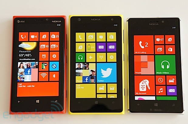 Nokia Lumia 920 1020 and 925