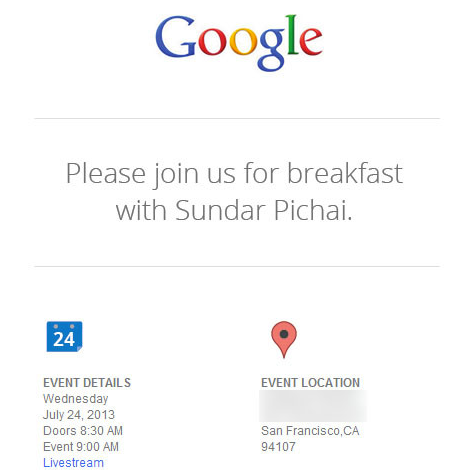 Google 24th july event