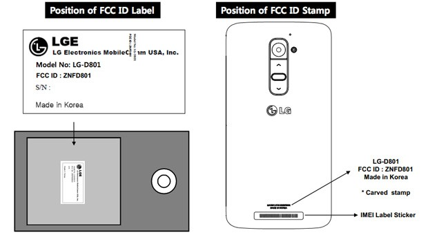 LG G2 at the FCC