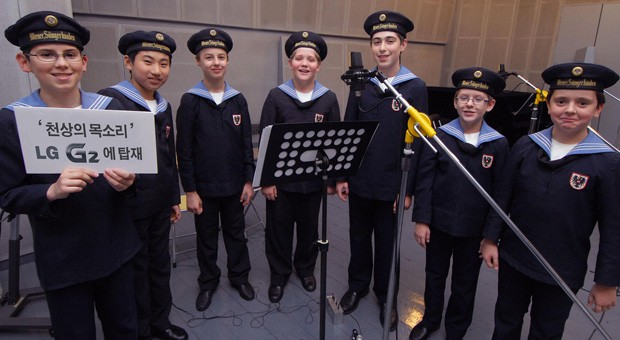 LG G2 to include music from the Vienna Boys' Choir say what