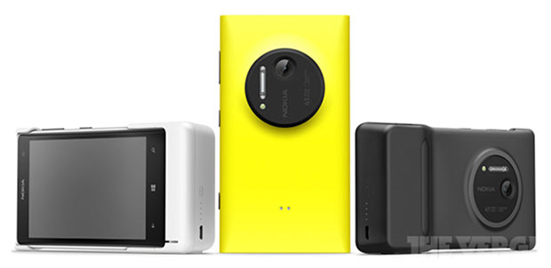 Nokia's Lumia 1020 leaks again with substantial camera grip that will probably boost the battery