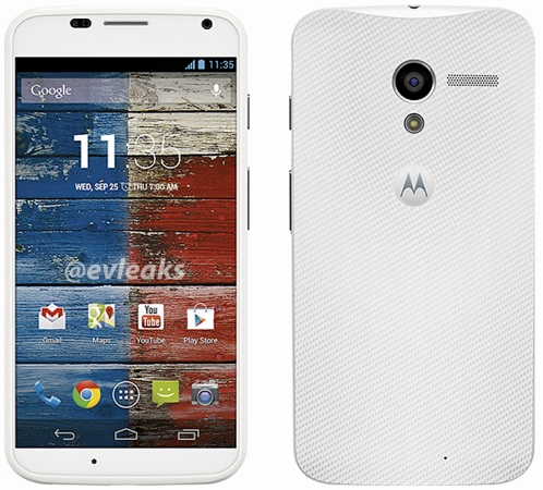 Moto X leaks in more press shots, this time in white