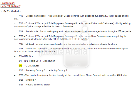 DNP Moto Droid X and HTC Hero street dates possibly leaked via Verizon road map