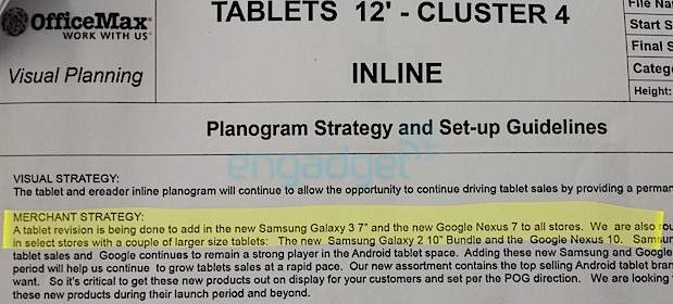 New Nexus 7 coming to retail outlets next week, according to documents