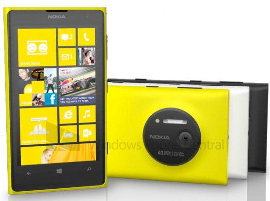 Nokia Lumia 1020 spotted in yellow, white and black, replete with 2GB of RAM