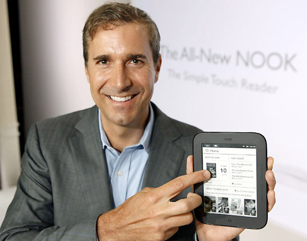 Barnes & Noble CEO William Lynch steps down Michael Huseby appointed CEO of Nook Media