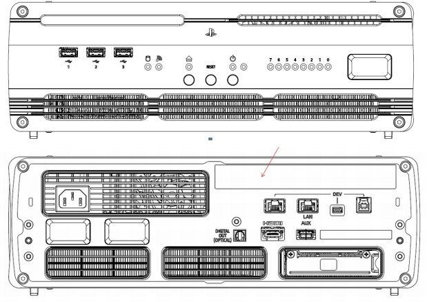 Sony PS4 dev kit FCC filing shows off extra ports, 275GHz max clock speed