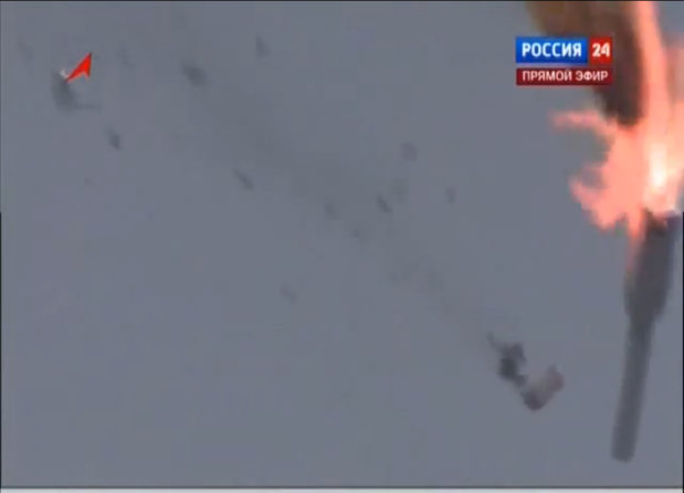 Russian rocket explodes almost instantly after take-off (video)