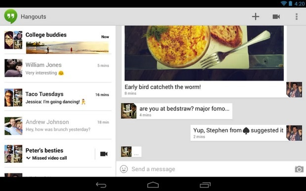 DNP Google updates Hangouts with more emoji and a touch of Project Butter