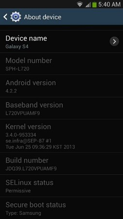 Sprint Galaxy S 4 update adds Knox, apps on SD card