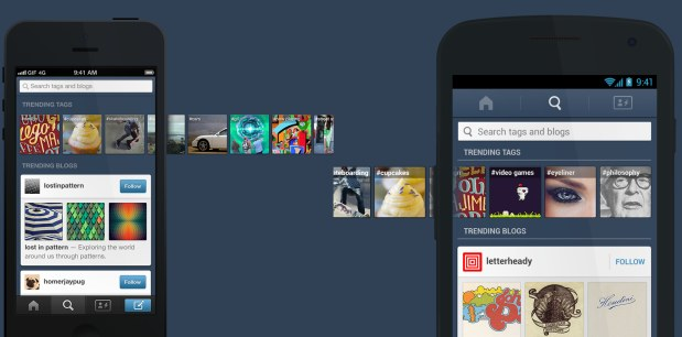 Tumblr on iOS expands search, Android version gets new animations