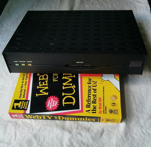 A pre-production prototype of the original WebTV box, from 1996.