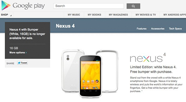 DNP White Nexus 4 no longer available on Google Play