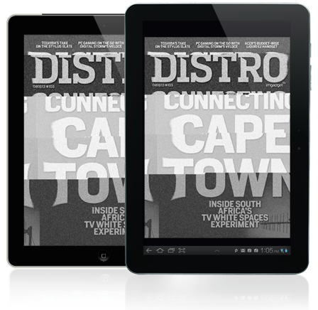 Distro Issue 103 Inside South Africa's TV white spaces experiment