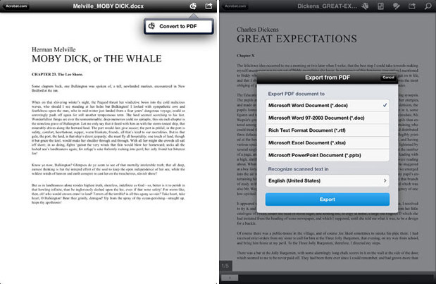 Adobe Reader for iOS updated with PDF conversion features, but they'll cost you