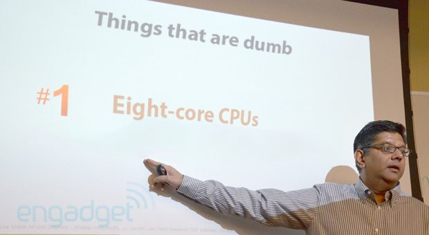 Qualcomm's Anand Chandrasekher says eight-core processors are 'dumb'